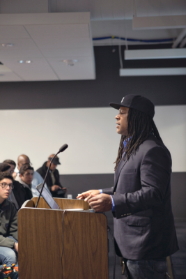 Shaka Senghor sharing his story with the audience.